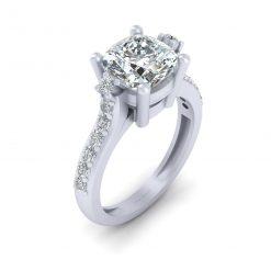 CUSHION CUT DIAMOND WEDDING RING