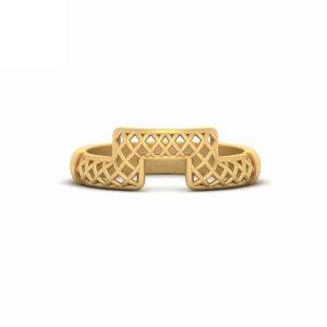 Classic Mesh Design Wedding Ring Band Womens