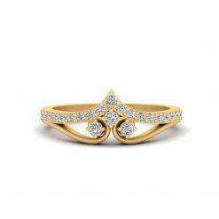 DIAMOND TIARA ENGAGEMENT RING