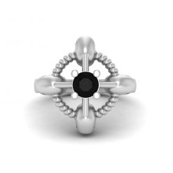 BLACK ONYX SKULL RING