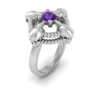 Geeky Skull Wedding Ring