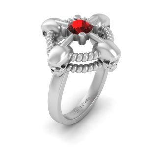 Geeky Gothic Skull Ring