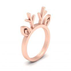 REINDEER HORN RING ROSE GOLD