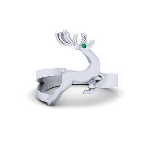 Deer Symbolizes Gentleness Christmas Ring