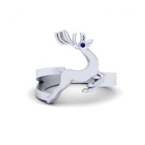 Symbol Of Gentleness Reindeer Christmas Ring