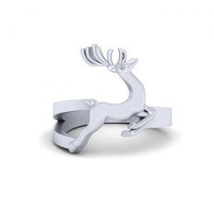 925 Sterling Silver Santa's Reindeer Ring