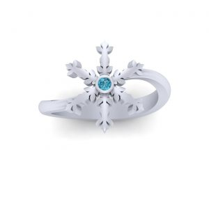 Snowflake Christmas Ring Gift