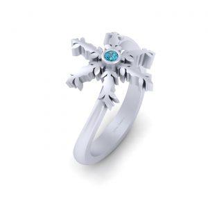 Snowflake Christmas Ring Gift