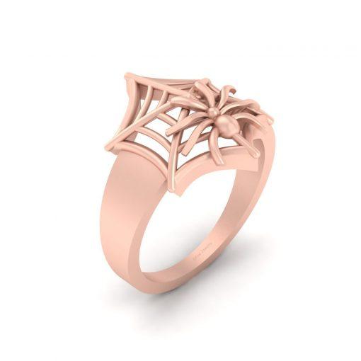 ROSE GOLD SPIDER WEB RING