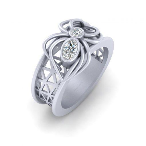 GOTHIC WEDDING RING WOMENS