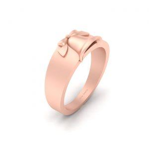 Rose Gold Christmas Bell Ring