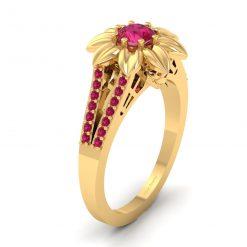 Gothic Skull Engagement Ring
