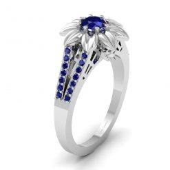 SAPPHIRE SKULL WEDDING RING