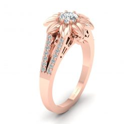 FLORAL GOTHIC ENGAGEMENT RING