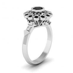 BLACK ONYX SKULL WEDDING RING
