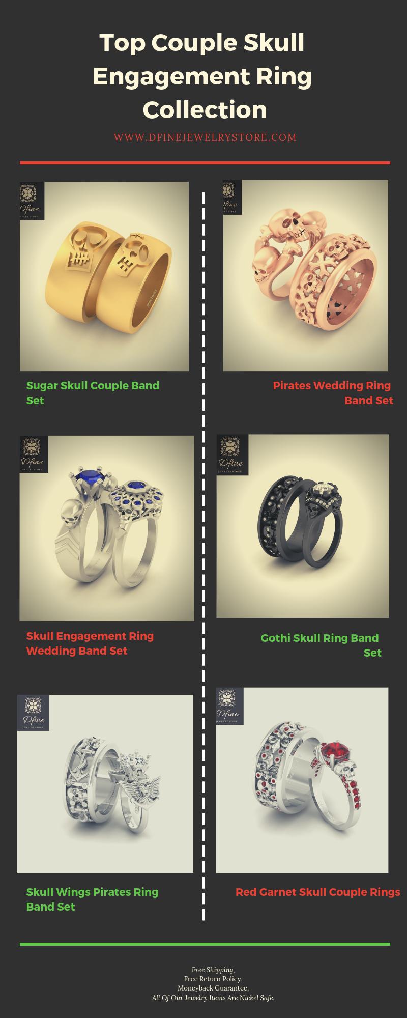 Couple Skull Rings