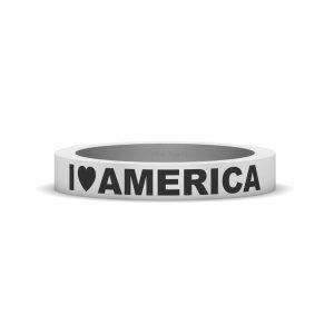 I LOVE AMERICA PATRIOTIC RING
