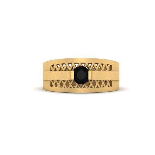 BLACK DIAMOND MESH RING