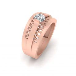 DIAMOND MESH WEDDING RING FOR HIM