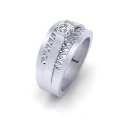 MESH DIAMOND WEDDING RING