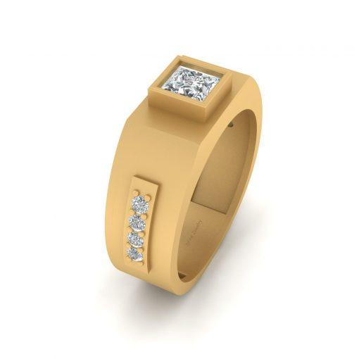 PRINCESS DIAMOND RING FOR MEN