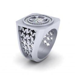 HEAVY DIAMOND WEDDING RING FOR HIM