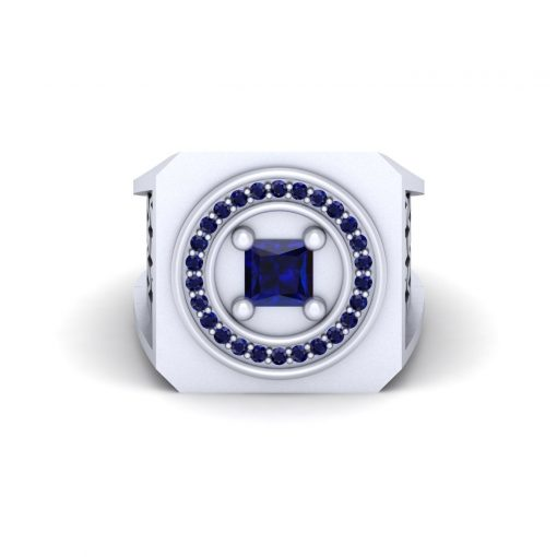 BLUE SAPPHIRE WEDDING RING FOR HIM