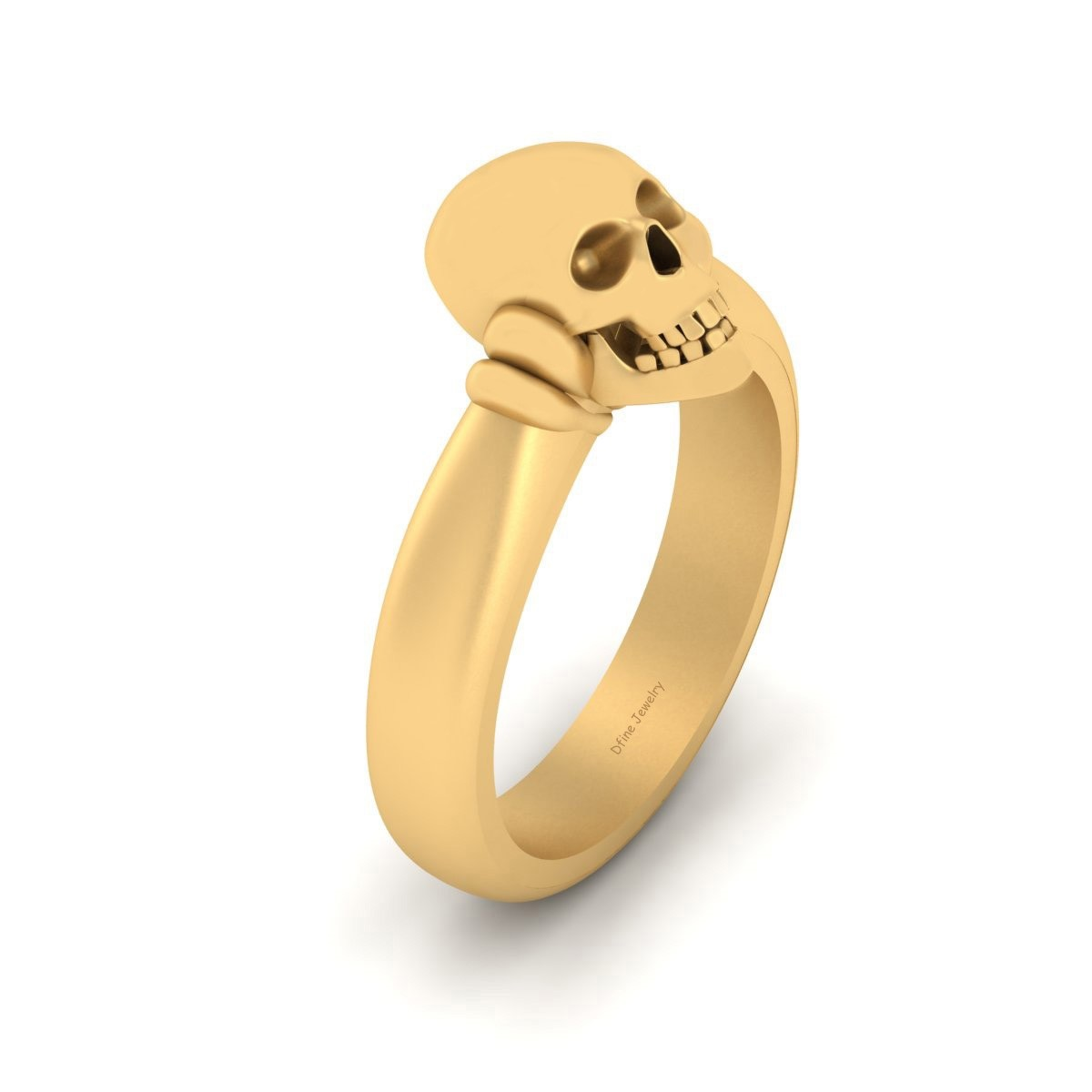 33e56d3f1d380a Gold Skull Engagement Ring For Her Gothic Skull Ring Womens