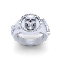 GANGSTER SKULL WEDDING RING