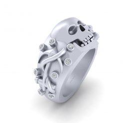 Anchor Skull Wedding Ring