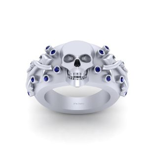 UNISEX SKULL AND ANCHOR RING