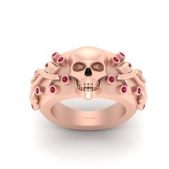 ANCHOR AND SKULL ENGAGEMENT RING