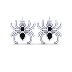 WHITE GOLD SPIDER EARRINGS