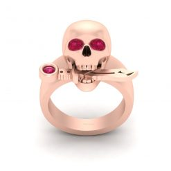 SKULL ENGAGEMENT RING WITH DAGGER