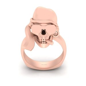 SKULL WEARING GOGGLES RING