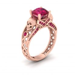 Silver Skull Engagement Ring