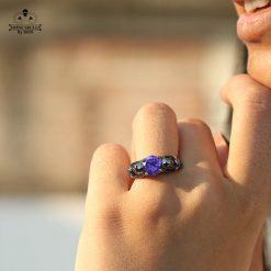 MESH SKULL WEDDING RING