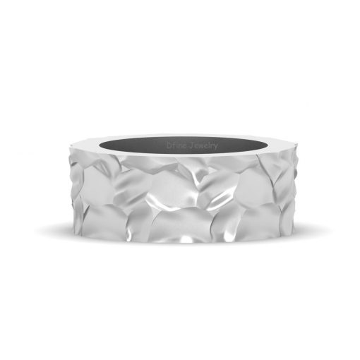 TEXTURED WEDDING BAND FOR MEN
