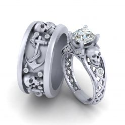 DIAMOND SKULL COUPLE RINGS