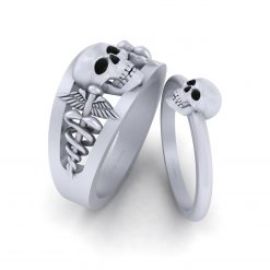 SILVER SKULL COUPLE RINGS