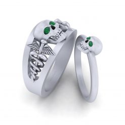 MATCHING SKULL RINGS FOR COUPLE