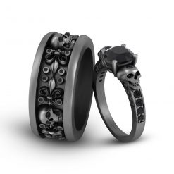 GOTHIC ENGAGEMENT RINGS FOR COUPLE