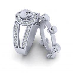 DIAMOND SKULL RINGS FOR COUPLE