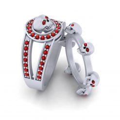 RED DIAMOND SKULL RINGS