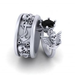 SKULL WINGS COUPLE RINGS
