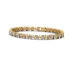 DIAMOND AND MOISSANITE BRACELET GOLD