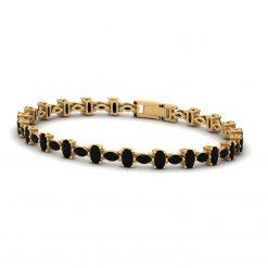 BLACK MOISSANITE BRACELET GOLD