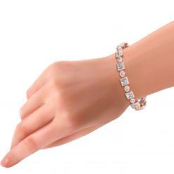 MOISSANITE AND NATURAL DIAMOND TENNIS BRACELET