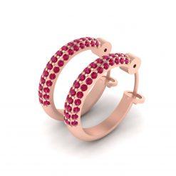 PINK DIAMOND WEDDING EARRINGS