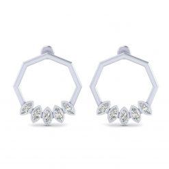 MARQUISE DIAMOND EARRINGS SILVER